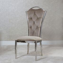 MILLIE High Back Chair  Mink