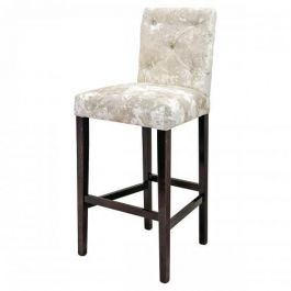 NANCY BAR STOOL SILVER/BLACK POLISH