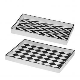 Set Of 2 Quinn Rectangular Trays