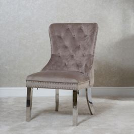 Chloe Button Back Dining Chair - Latte