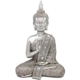 Silver Thai Buddha 16cm