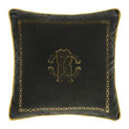 Roberto Cavalli Dark Grey Cushion 40x40