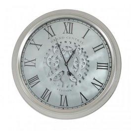 Roman Gears Wall Clock Silver