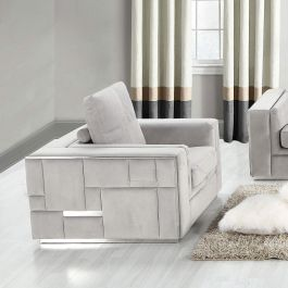 DENVER - 1 Seater Sofa - Silver