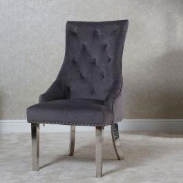 Megan Knocker Back Dining Chair Grey