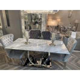 HARLEY GREY DINING TABLE 180CM & 6 CHAIRS