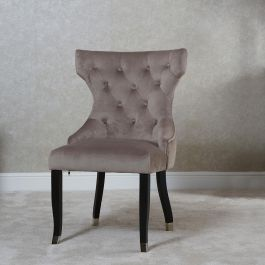 Camilla Button Back Dining Chair Latte