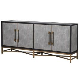 Bowe Oak & Shagreen 4 Door Sideboard
