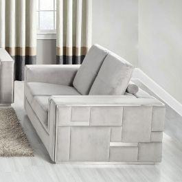 DENVER - 2 Seater Sofa - Silver