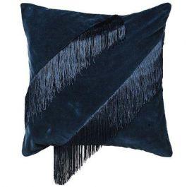 Fringe Cushion Cover Navy Blue