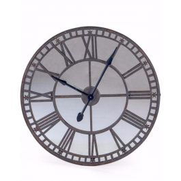 Antique Clock With Mirror Face