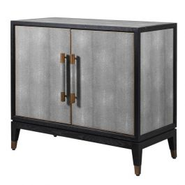 Bowe Oak & Shagreen Small Cabinet