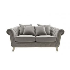Anzio Two Seater Sofa Silver