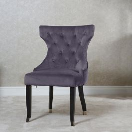 Camilla Button Back Dining Chair Grey