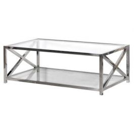Toronto Glass And Steel Coffee Table