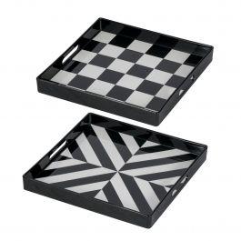 Set Of 2 Quinn Square Trays