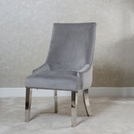 Emilia Button Back Dining Chair Silver
