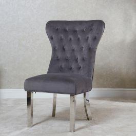 Bella Lion Back Dining chair Grey