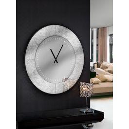 Silver Mirror Wall Clock