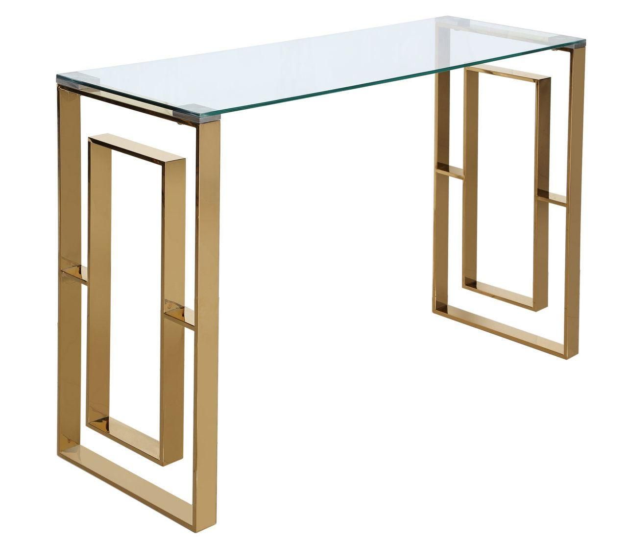 Picture of: The Duke Gold Metal Console Table Console Tables My Home Rocks